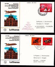 """2 Erstflüge FFC LH  """"Mailand - Düsseldorf - Mailand"""" 24.06.1965 !!"""