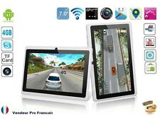 """Tablette PC Tactile 7"""" Android Capacitif Caméra WIFI HD 3D USB 4GB Blanche"""