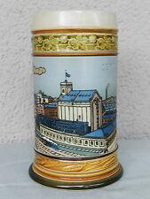 V&B Mettlach Chromolith Post- Jugendstil / Art Nouveau Steinzeug Krug 1929