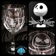 Personalised Jack Skellington Wine Glass Nightmare Before Christmas Any Name