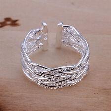 Silver Fashion Wedding Party lady Cute women Rings Jewelry mesh pretty nice 925