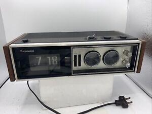 "Panasonic ""Cameron"" RC-7469 Flip Display Alarm Clock Radio, Works!"