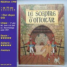 Tintin, 7, Le sceptre d'Ottokar, Hergé, Casterman, R, B2, 1948, EM, C