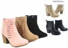 NEW Women's Chunky High Heel Western Cowboy Ankle Booties Shoes Size 5 - 10