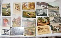 JOB LOT 18 ANTIQUE AND VINTAGE PHOTOGRAPHIC & ART POSTCARDS TUCKS MEISSNER BUCH