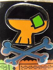 2014 Disney Booster Trading Pin Sugar Pirate Skulls & Crossbones Goofy