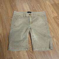 American Eagle Outfitters Juniors Bermuda Shorts Sz 2 Tan Stretch Chinos YB38