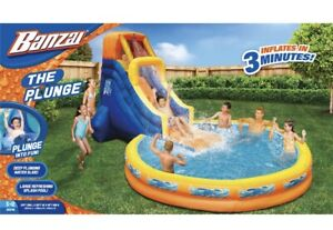 Banzai The Plunge Water Park Slide/Pool