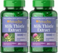 Puritan's Pride Milk Thistle 360 (2X180) Softgels 4:1 Extract 1000mg Exp 09/2021