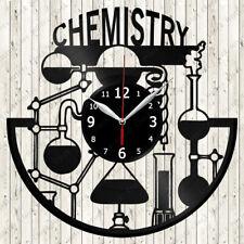 Chemisty Vinyl Record Wall Clock Decor Handmade 2578