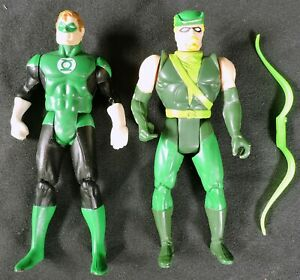 S745 SUPER POWERS COLLECTION Green Lantern & Green Arrow Action Figures (1980s)