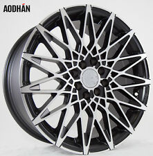 17X7.5 +35 AodHan LS001 4X100 BLACK MACHINED Wheel Fit MINI COOPER S JCW 2008 UP