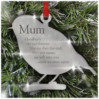 Remembrance Robin PERSONALISED Christmas Tree Decoration Bauble Xmas in Memory