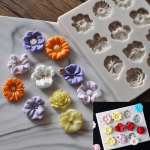 Silicone Flower Lace Fondant Mould Cake Rose Plants Decorating Baking Icing Mold