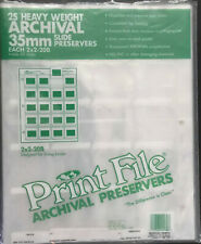 Print File Heavy Weight Archival 35 mm Slide preservers
