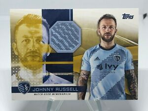 2020 Topps MLS Soccer JOHNNY RUSSELL Jersey Relic GOLD /50 SPORTING KANSAS CITY