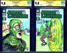 The Green Lantern #1 CGC 9.8 x2 Green Bastard vs Pickle Rick Steve Lydic Sketch