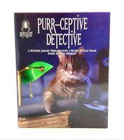 Purr-Ceptive Detective 1000 PC Jigsaw Puzzle Mystery 1994 Difficult Cats Secret