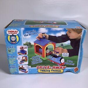 Thomas The Tank Drive Away Talking Thomas Golden Bear Shed Driver New Open Box