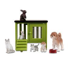 Lundby 60.9039 Stockholm Tierset - grüner Stall Hund Katze Hase