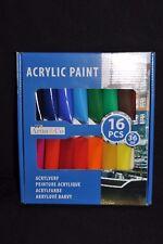 Acrylfarben mit Metallic Effekt Glitzer 6 x 75 ml Tuben Malen Acryl Farbe Malset
