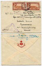 GIBRALTAR WW2 CENSORED TRIANGLE 1940 to FORDINGBRIDGE + FORWARDED VICTORY SLOGAN