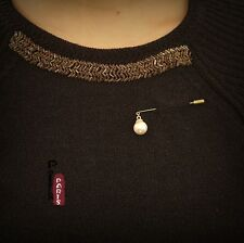 Broche Epingle Perle Pike Baroque Vintage Style Original Mariage XZ4