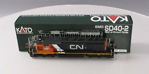 Kato 37-2901 HO Custom Painted/Weathered CN SD40-2 Diesel W/Snoot Nose #5381 EX