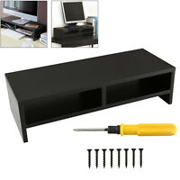 Computer Desktop Monitor Stand Laptop TV Display Screen Riser Shelf Black