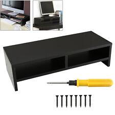 Computer Desktop Monitor Stand Laptop TV Display Screen Riser Shelf Black