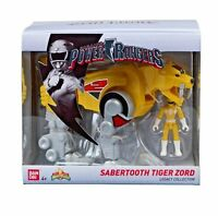 Power Rangers Sabertooth Tiger Zord Action Figure Yellow Saban