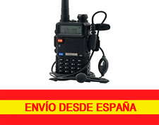 BaoFeng UV-5R Negro Dual-Band 136-174/400-520 MHz FM Con Auriculares