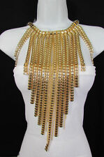 """New Women Gold Metal Multi Strands Links Chains 20"""" Extra Long Fashion Necklace"""