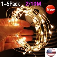 LED Fairy Lights- 2/10M Battery Operated Waterproof with 20/100 Micro LED Lights