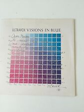 ULTRAVOX - 1982 Vinyl 45rpm Single - VISIONS IN BLUE - special White vinyl editi