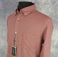 John Varvatos Mens Shirt Size XL Long Sleeve Red Gray Check Button Down NWT
