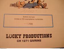 Lucky Luke Marcel Dalton Morris Productions Tirage de tête TT 1998 signé limité