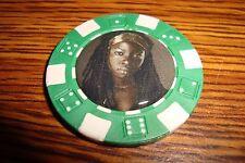 Michonne The Walking Dead Photo Poker Chip,Golf Ball Marker,Card Guard  Green