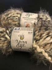Lot Of 2 Skeins Hobby Lobby Yarn Bee Soft Illusion Super Bulky Yarn In Naturals