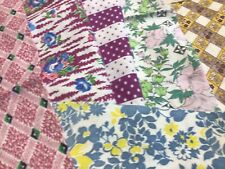 One Pound Lot #2 Feed Sack Fabric Prints 30 All Dif Pcs. Quilt Top Blocks