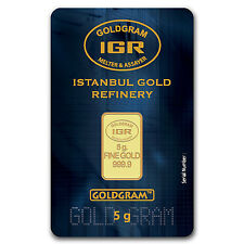 5 gram Gold Bar - Istanbul Gold Refinery (In Assay) - SKU #57994