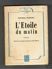 L'ETOILE DU MATIN THOMAS KERNAN  JULLIARD SEQUANA 1946