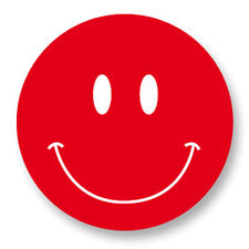"Pin Button Badge Ø25mm 1"" Smiley Face Smile Smiling Happy Face Rouge Red"