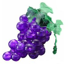"3D PUZZLE  46 PIECES ""Purple GraPe"" / CRYSTAL PUZZLES"