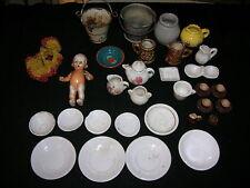 Antikes Puppengeschirr Porzellan Puppe Konvolut Zubehör