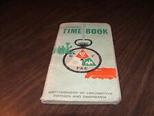 1963 NORTHERN PACIFIC RAILWAY ENGINEMAN'S TIME BOOK