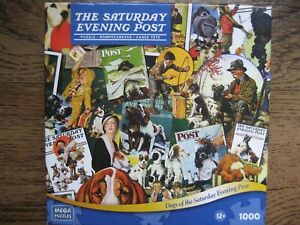 Mega Puzzles DOGS OF THE SATURDAY EVENING POST COVERS 1000 Pc PUZZLE COMPLETE