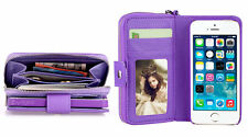 Unbranded/Generic Plain Synthetic Leather Mobile Phone Wallet Cases