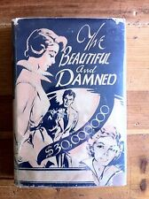 Beautiful and the Damned F Scott Fitzgerald Rare 2nd UK Print. Dust Jacket 1954