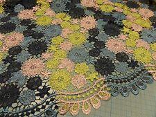 """tela de Vestido """"Encaje"""" 140cm de ancho multicolor poliéster con"""